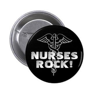 ¡Roca de las enfermeras! Botón de Pinback para los Pin Redondo De 2 Pulgadas