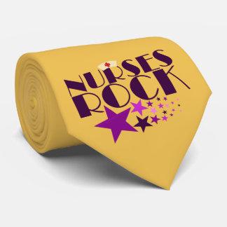 Roca de las enfermeras corbatas personalizadas