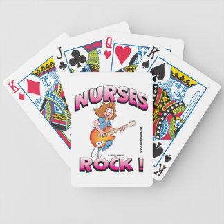 ¡Roca de las enfermeras! Cubierta de tarjetas Baraja