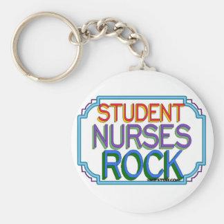 Roca de las enfermeras de estudiante llavero redondo tipo pin