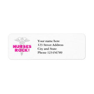 ¡Roca de las enfermeras! Dirección de la etiqueta  Etiqueta De Remite