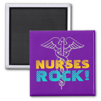 ¡Roca de las enfermeras! Imán con símbolo del cadu