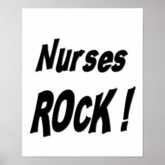 ¡Roca de las enfermeras Impresión del poster