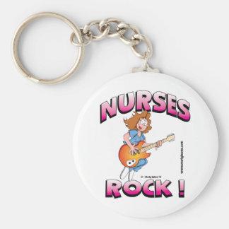 ¡Roca de las enfermeras! Llavero Redondo Tipo Pin