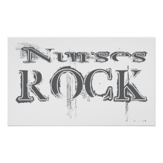 Roca de las enfermeras póster