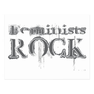 Roca de las feministas tarjetas postales