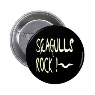 ¡Roca de las gaviotas! Botón Pin Redondo De 2 Pulgadas