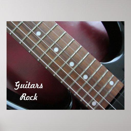 Roca de las guitarras - guitarra eléctrica póster