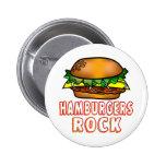 Roca de las hamburguesas pins