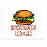 Roca de las hamburguesas postal