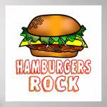 Roca de las hamburguesas poster