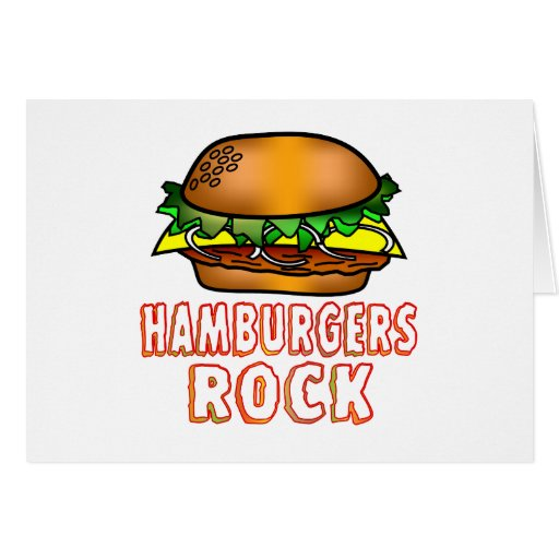 Roca de las hamburguesas tarjeta de felicitación