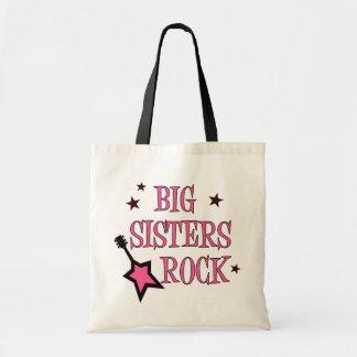 Roca de las hermanas grandes bolsa tela barata