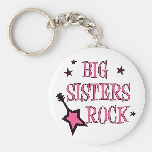 Roca de las hermanas grandes llaveros