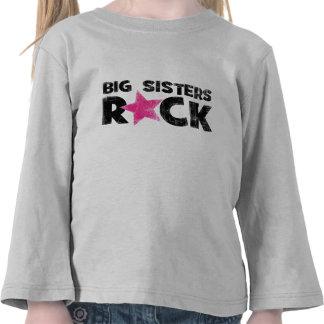 Roca de las hermanas grandes camisetas