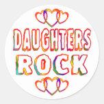 Roca de las hijas etiquetas redondas