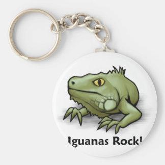 ¡Roca de las iguanas! Llavero Redondo Tipo Pin