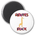 Roca de las jirafas imán de nevera