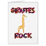 Roca de las jirafas tarjeton