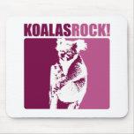 ¡Roca de las koalas! Alfombrillas De Ratón
