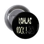 ¡Roca de las koalas! Botón Pin