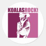 ¡Roca de las koalas! Etiquetas Redondas