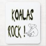 ¡Roca de las koalas! Mousepad Tapetes De Ratón