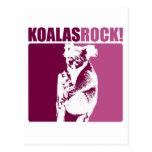 ¡Roca de las koalas! Postal