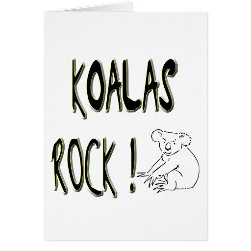 ¡Roca de las koalas! Tarjeta de felicitación