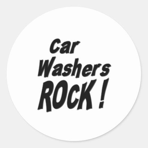¡Roca de las lavadoras del coche! Pegatina