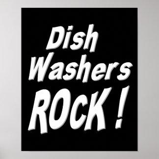 ¡Roca de las lavadoras del plato Impresión del po