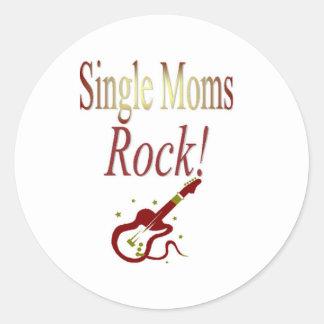 ¡Roca de las madres solteras! Engranaje Pegatina Redonda