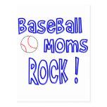 ¡Roca de las mamáes del béisbol! (azul) Postales