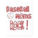 ¡Roca de las mamáes del béisbol! (rojo) Postales