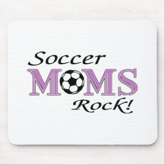 Roca de las mamáes del fútbol alfombrilla de ratón