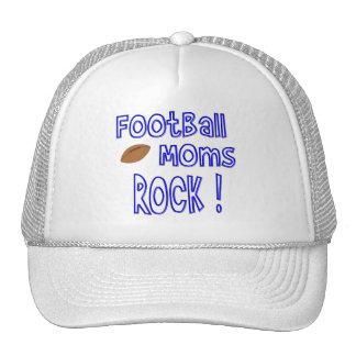 ¡Roca de las mamáes del fútbol! (azul) Gorros Bordados