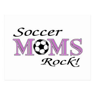 Roca de las mamáes del fútbol tarjetas postales