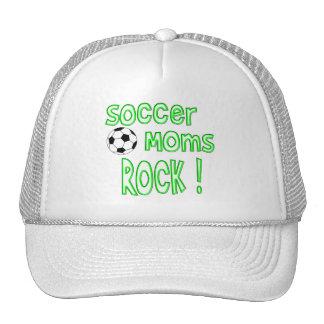 ¡Roca de las mamáes del fútbol! (verde) Gorros Bordados