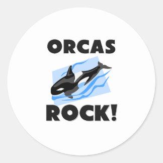 Roca de las orcas etiquetas redondas