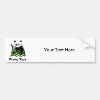 Roca de las pandas pegatina para auto