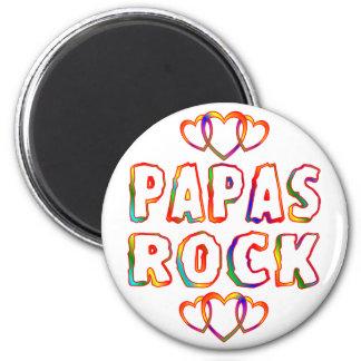 Roca de las papás imán redondo 5 cm