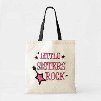 Roca de las pequeñas hermanas bolsa tela barata