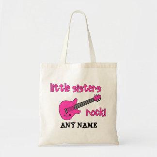 ¡Roca de las pequeñas hermanas con la guitarra ro Bolsas De Mano