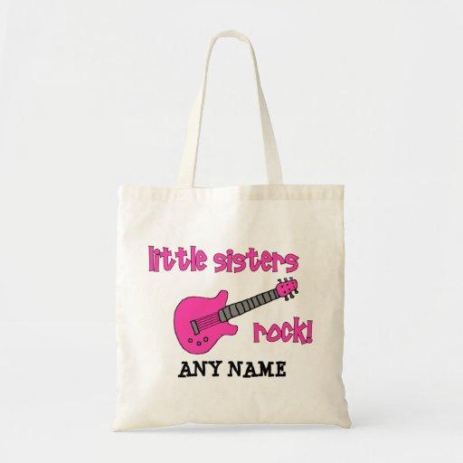 ¡Roca de las pequeñas hermanas! con la guitarra ro Bolsa Tela Barata