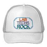 Roca de las tecnologías del laboratorio gorro