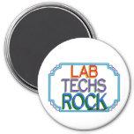 Roca de las tecnologías del laboratorio imán