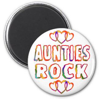Roca de las tías imán redondo 5 cm