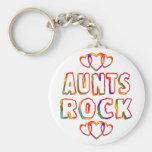 Roca de las tías llaveros personalizados