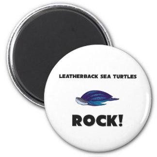 Roca de las tortugas de mar del Leatherback Iman Para Frigorífico