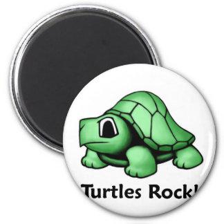 ¡Roca de las tortugas! Imán Para Frigorífico